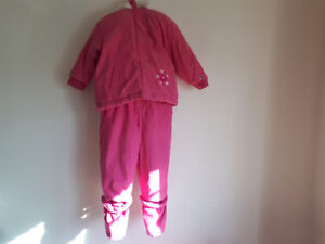 Girls pink snow suit  Size 30 Lbs