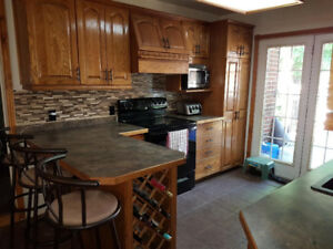 Kitchen Cupboards, Countertop & Appliances