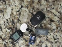Lost Keys with Lexus Fob and Starter