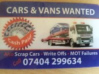 Cars, vans, 4x4s wanted