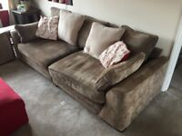 Scs vancouver 4seater sofa, snuggle chair and IKEA kivik storage foot rest