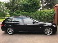 2007 07 BMW 330d M Sport Touring Manual PRO SAT NAV ESTATE DIESEL BLACK