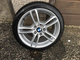 Set of BMW 1 series 18 inch wheels/new tyres (m.sport)wider rears!!!!