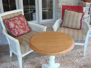 OCCASIONAL TABLE with 2 x MATCHING CHAIRS