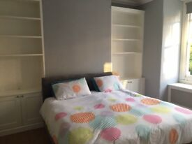 Near new double bed with memory foam mattress