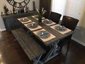 Rustic Farm Style Harvest/Dining Table - NEW