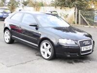 Audi A3 2.0TDI 2006, Black, 3 Door Hatchback, FSH, 6 Months AA Warranty