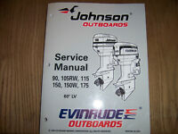 Factory Service Manual Johnson Evinrude outboards 90hp to 175hp
