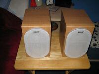 Sony Hi-Fi Stereo Audio Speakers Wooden Bookshelf Ex. Cond. Bargain £25 For Quick Sale