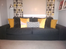 IKEA Kivik 3 Seater Sofa Dark Grey