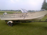 18 ft Aluminum Boat and motor
