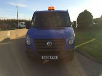 2008 08 Volkswagen Crafter 2.5TDi CR35 7 Seater CrewCab Tipper Blue.