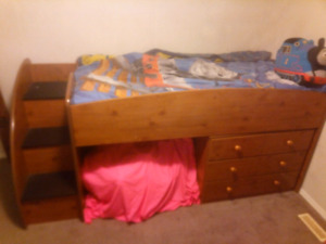 Twin loft bed with dresser