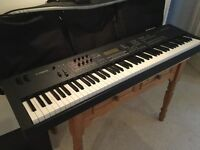 Yamaha MOX8 synth with weighted keys