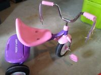 Radio flyer little girls tricycle
