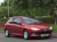 Peugeot 206 1.4 ( a/c ) 2001MY GLX,LONG MOT,LOW TAX,LOW INSURANCE