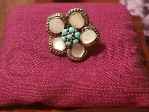 Ladies Sterling silver ring with turquoise