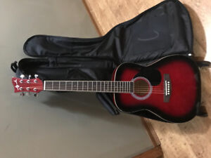 EUC Guitar, case and stand