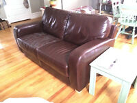 Cute love seat/small couch, chocolate brown