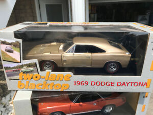 Dodge Charger Daytona 1969 two lane black top diecast 1/18