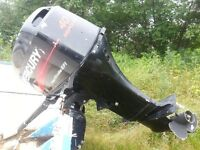 18ft Riveted Aluminum boat with 40 HP/4 stroke outboard motor
