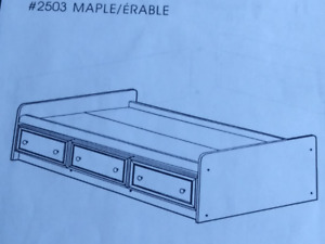 Lit simple / Twin Bed