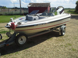 1986 Bayliner Capri 14' boat with 50hp Johnson,  and trailer
