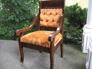 2 Crushed Valvet parlor chairs