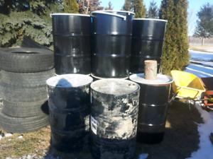 55 gallon burn barrels drums storage steel metal