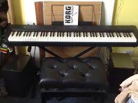 Korg sp 200 full size piano , keyboard