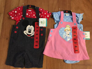 New! Disney 2 pc outfits size 9 mths