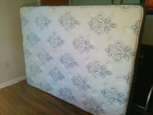 Quilted Queen Bed, Serta Mattress and metal wheeled frame $550 Kingston Kingston Area image 3