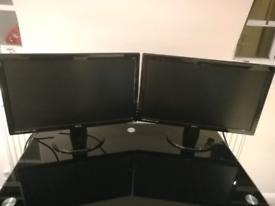 2 Full HD LED monitors BenQ