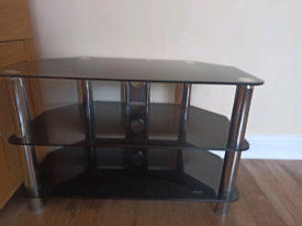 Tv stand - 3 tier / Glass
