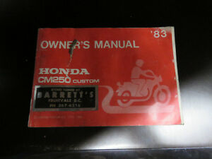 Honda 83 CM250 Owners manual,