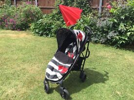 COSATTO BLACK WHITE AND RED BUGGY