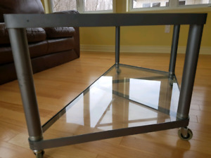 Glass table .