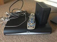 Sky hub and sky HD box