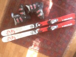 Youth skis and boots