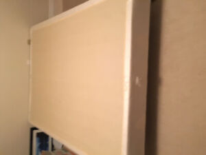 Queen Bed Box Spring and Frame
