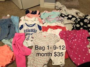 Girl 9-12 month cloths bag 1