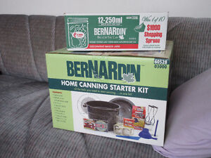 Bernardin Home Canning Starter Kit and 1 Box of 12 New Jars