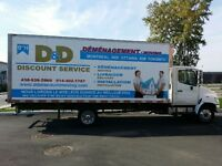Demenagement Movung  super Discount  2 MEN+TRUCK  $65/HR