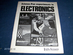 SCIENCE FUN EXPERIMENTS IN ELECTRONICS-LOGIX KOSMOS-1973