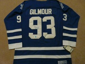 Doug Gilmour signed Toronto Maple Leaf Jersey COA/Hologram