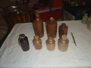 vintage  pottery  ink  well   stoneware
