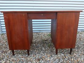 Vintage retro teak wooden mid century 60s Danish office work desk