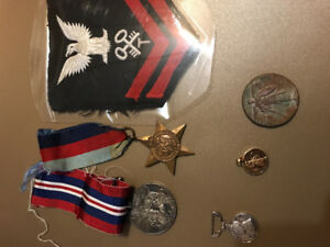 War Medals WWI WWII us navy Royal Air Force Canadian
