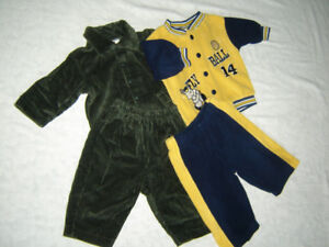 Box of Boy's Size 3-6 m Snuggly Clothing
