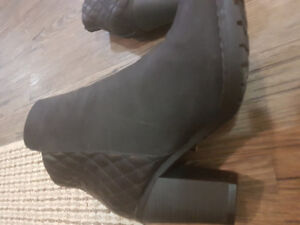 THICK  HIGH HEELED  BOOTS